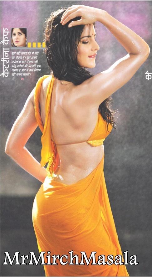 Katrina Kaif wet and backless in saree!!