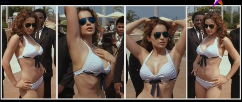 Kangana Ranaut hot in white bikini..hd